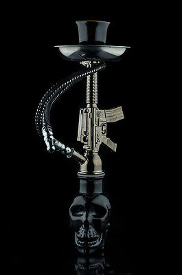 Skull Head AK47 Mini Hookah Glass Water Pipe Bong Black Fashion Free Delivery