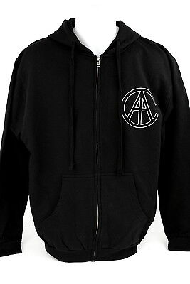 Mens Black Hooded Sweatshirt Hoodie Alice In Chains Music Band Concert Tour