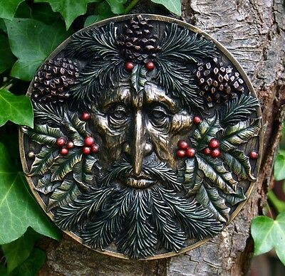 Latex Rubber Mould Mold Molds Of a Green Man Wall Plaque Winter