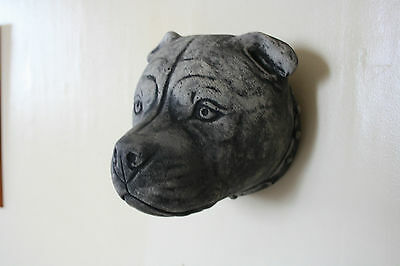 Latex Mould Mold Wall Plaque Of A Staffordshire Bull terrier Staffie Head Mould