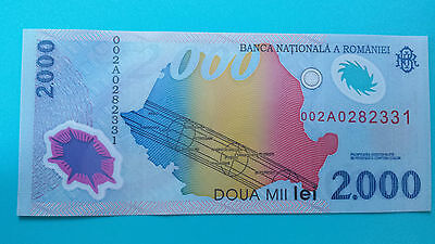 2000 lei Polymer Banknote Se. 002A0 unc. total solar eclipse of August 11, 1999