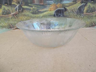 Large Clear Glass Bowl W/etching