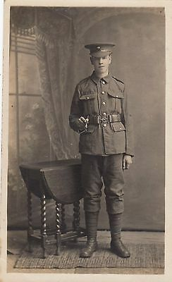 WW1, Unnamed Soldier, Portrait, Real photo, old postcard, unposted 1917