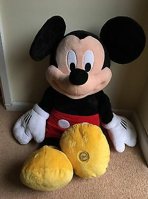 """Disney Store Exclusive Large Mickey Mouse Plush. 31"""" Soft Toy. Huge Teddy"""