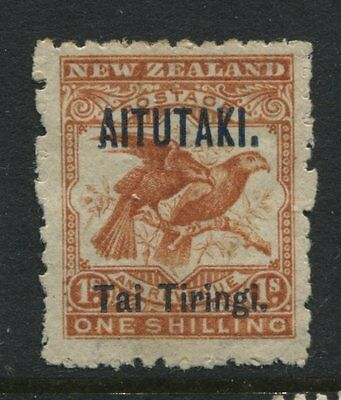 Aitutaki 1903 1/ orange mint o.g. hinged and VF, Scott #6a
