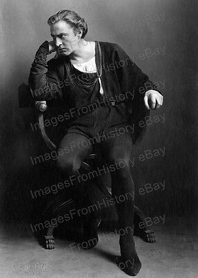 8x10 Print John Barrymore Hamlet 1922 by Albin New York #JB4