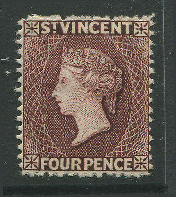 St. Vincent QV 1886 4d purple brown mint o.g. hinged