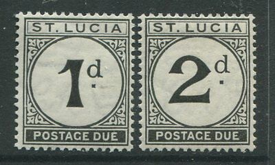 St. Lucia 1933 Postage Dues 1d & 2d mint o.g. hinged