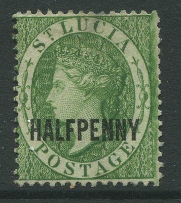 St. Lucia 1881 overprinted 1/2d green unused no gum