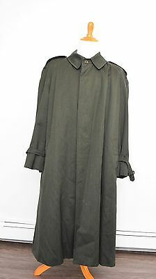AQUASCUTUM Green Belted Trench Coat Made in England ORIGINAL SUPERB QUALITY
