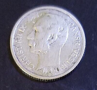 1905 Danish West Indies 10 Cents (50 Bites) Silver Coin ASW.0639 VF