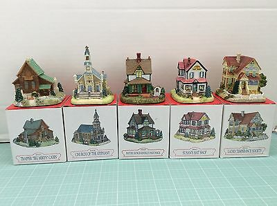 Lot of 5 Liberty Falls Christmas Village Buildings All from 1997 Collection