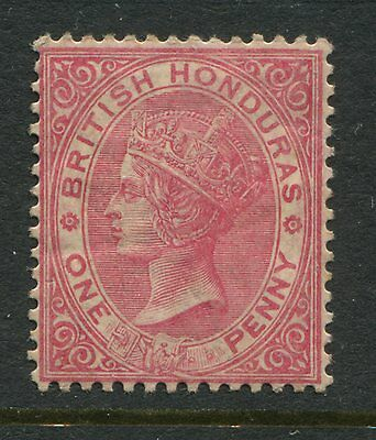 British Honduras 1884 1d rose mint o.g. hinged