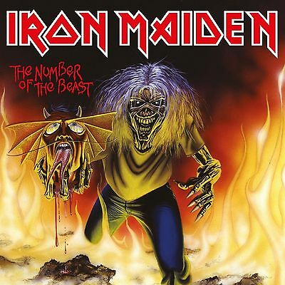 IRON MAIDEN - NUMBER OF THE BEAST 7 inch red vinyl original 1982 emi 5287