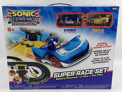 Sonic All Star Racing Transformed Sonic & Tails RC Slot Car Race Set