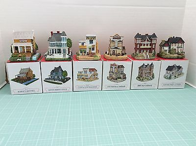 Lot 6 Liberty Falls Christmas Village Buildings All from 96-93-2000 Collection