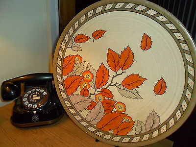 Charlotte Rhead Golden leaves charger - plate - wall plate