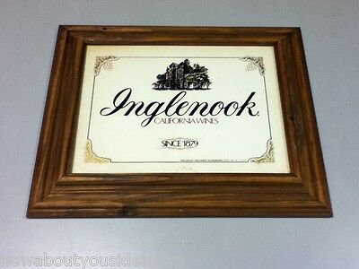 Inglenook sign framed picture California wines wood bar wine pub saloon KP1