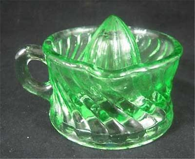 Small Apple Green Glass Juicer-Reamer