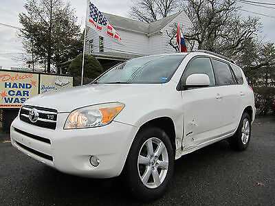 2008 Toyota RAV4 Limited Sport Utility 4-Door TOYOTA RAV4 LIMITED 2008 4WD WHITE COLLISION DAMAGE REPAIRABLE SALVAGE
