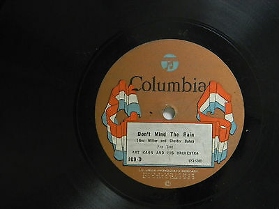 Art Kahn 78 DON'T MIND THE RAIN / THERE'S YES! YES! IN YOUR EYES ~ Columbia VG++