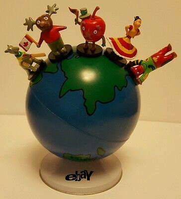 Rare eBay magnetic earth globe & figures Collectible eBayana only one on eBay
