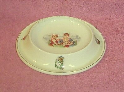 Vintage Royal Baby Plate Round Ceramic Child's Dish Girls