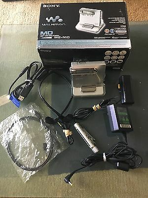 Sony N-10 MD Portable MiniDisc Recorder With Original Box And Accessories