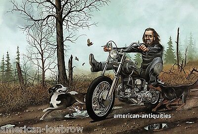 Dave David Mann Biker Art Motorcycle Poster Easyriders Hellhounds on My Trail