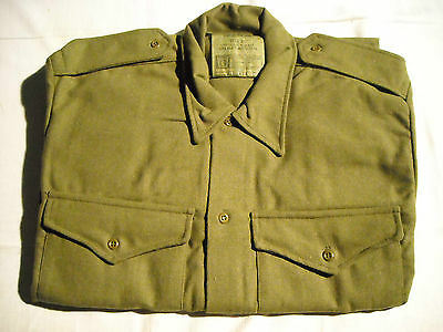 """Vintage Kf Wool Army Shirt -16"""" Collar - 40"""" Chest / Re-Enactment"""