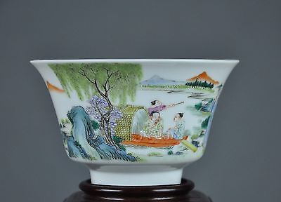 Stunning Antique Chinese Republic Porcelain Bowl With Mark.