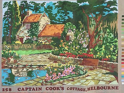 "RARE:  ""Captain Cook's Cottage, Melbourne"" by Austral Tapestry - Large Canvas"
