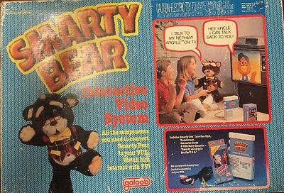Vtg. SMARTY BEAR Interactive Video System By Galoob New In Box