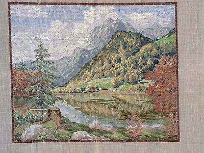 "Vintage ""FootHills"" Jolles Tramme Tapestry/Needlepoint Canvas"