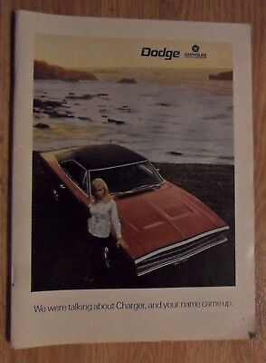 1970 Print Ad  Dodge Charger Muscle Car Automobile ~ Pretty Blonde Girl Ocean