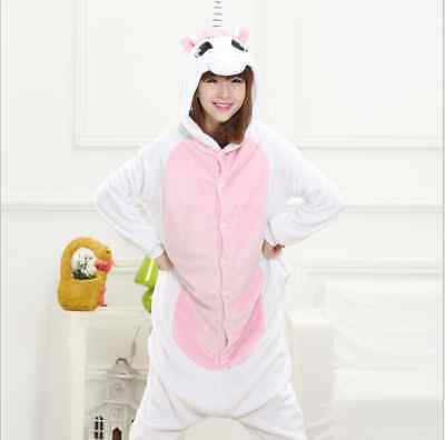 unicorn** Kigurumi Pajamas Animal Cosplay Costume Unisex Adult Onesie Sleepwear