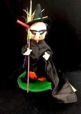 "Annalee Mobilitee Dolls Inc. 9"" Witch Trick Or Treat 1988 Made In USA"