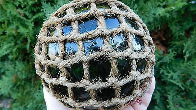 """Vintage Genuine Netted Glass Float Embossed  """" Made In England """""""