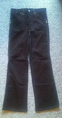 VINTAGE 70s WRANGLER BROWN CORDUROY PANTS JEANS SLACKS USA  14 boy's regular