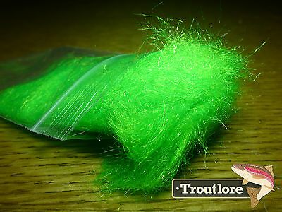 Hot Chartreuse Arctic Snow Ftd Dubbing - New Fly Tying Dub Material