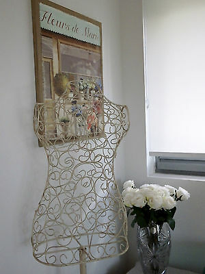 Cream French Provincial Vintage Wrought Iron-Shabby Chic-Shop-Country- Mannequin