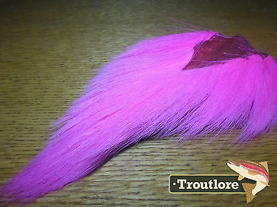 Pink Bucktail Nature's Spirit Select Buck Tail - New Fly Tying Hair Material