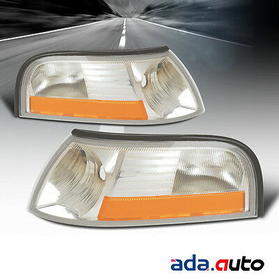 2003-2005 Ford Grand Marquis Left Right Side Signal Lights Lamps Pair