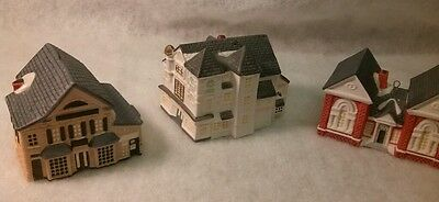 Rockwell's Christmas on Main Street Collection LOT OF 3 Library,  Shop