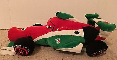 Disney Cars 2 Francesco 17 Plush Red Green Race Car Pixar Stuffed