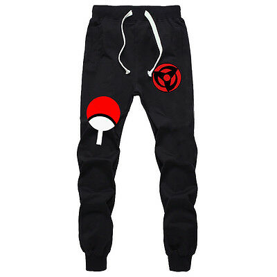 Anime Naruto Sasuke Cotton Pants Cosplay Sports Casual Trousers Sweatpants S-XXL