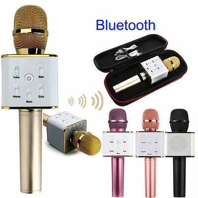 Q7 Wireless Handheled KTV Bluetooth4.0 Microphone Mic Speaker For iPhone 6 6S 7