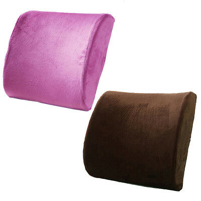 Memory Foam Seat Cushion Lumbar Back Support Car Office Chair Pain Relief ME