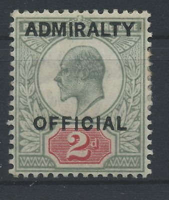 GB Admirality Official SG O 104 2d dull green & red MiNr D4 I