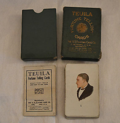 Teuila Fortune Telling Tarot Cards 1923 Complete Deck Boxed with Instructions